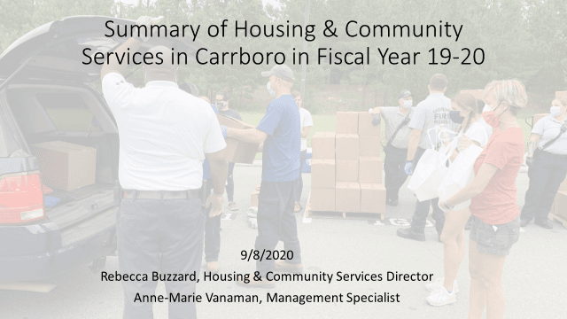 Housing and Community Services Report FY19-20
